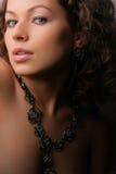 красивейшая женщина ювелирных изделий красотки Стоковое фото RF