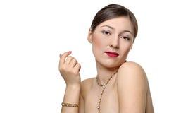 красивейшая женщина ювелирных изделий Стоковое Изображение RF