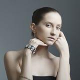 красивейшая женщина ювелирных изделий Стоковые Изображения RF