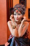 красивейшая женщина ювелирных изделий Стоковое Фото