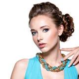 красивейшая женщина ювелирных изделий Стоковое Изображение