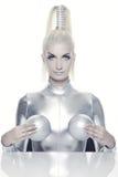 красивейшая женщина cyber стоковые фотографии rf