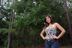 красивейшая женщина outdoors 13 Стоковая Фотография RF