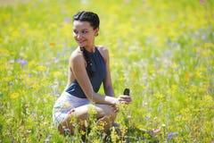 Красивейшая женщина outdoors Стоковая Фотография