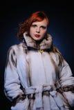 красивейшая женщина redhead стоковое изображение rf