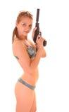 красивейшая женщина swimsuite пушки стоковое изображение