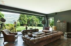 красивейшая живущая комната Стоковая Фотография