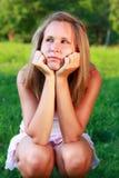 красивейшая задумчивая женщина портрета Стоковое Фото