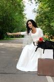 красивейшая заминка похода невесты Стоковое Изображение RF