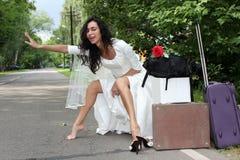 красивейшая заминка hiker невесты Стоковые Фото