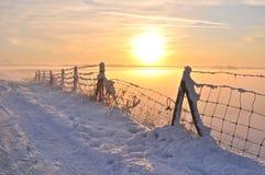 красивейшая зима Голландии Стоковая Фотография