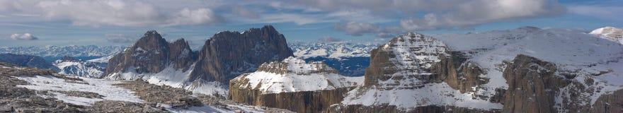красивейшая зима горы ландшафта Стоковые Фотографии RF
