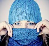красивейшая зима девушки Стоковые Изображения RF
