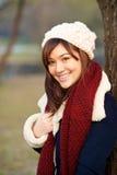 красивейшая зима девушки одежд Стоковая Фотография