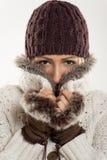 красивейшая зима девушки одежд Стоковое Изображение RF
