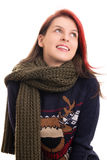 красивейшая зима девушки одежд Стоковое Фото