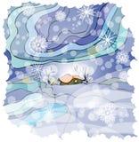 красивейшая зима иллюстрации иллюстрация штока