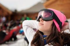 красивейшая зима портрета девушки Стоковая Фотография