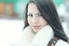 красивейшая зима портрета девушки Стоковое фото RF