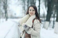 красивейшая зима портрета девушки Стоковое Фото