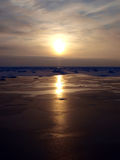 красивейшая зима сезона озера Стоковые Изображения RF