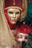 красивейшая золотистая женщина маски Стоковые Фотографии RF