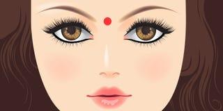 Красивейшая индийская женщина   Стоковые Фотографии RF