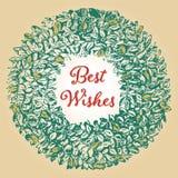 красивейшая иллюстрация архива eps рождества карточки 8 включила сбор винограда вала Стоковые Изображения