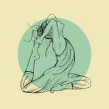 красивейшая йога женщины представления Стоковые Изображения