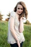 красивейшая кавказская девушка стоковое изображение rf