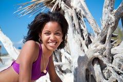 красивейшая карибская женщина стоковые фотографии rf