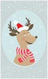 Красивейшая карточка на Новый Год Стоковое Фото