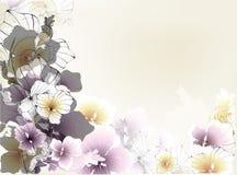 красивейшая карточка флористическая бесплатная иллюстрация