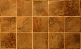 красивейшая коричневая рыжеватая плитка Стоковая Фотография RF