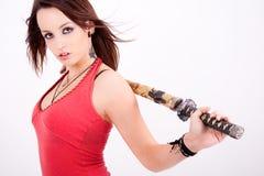 красивейшая коричневая шпага девушки предназначенная для подростков Стоковое фото RF