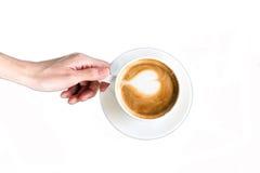 красивейшая кофейная чашка Стоковые Фото