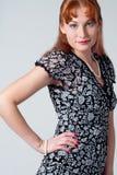 красивейшая красная женщина Стоковые Фото