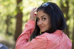 красивейшая красотка eyes женщина портрета природы состава естественная Стоковое фото RF