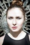 красивейшая красотка eyes женщина портрета природы состава естественная Стоковое Изображение RF