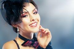 красивейшая красотка eyes женщина портрета природы состава естественная Стоковые Изображения RF