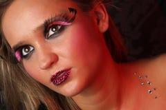красивейшая красотка eyes портрет состава девушки естественный Стоковое Изображение RF