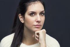 красивейшая красотка eyes портрет состава девушки естественный Стоковые Фотографии RF