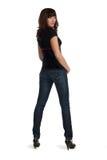 красивейшая круглая поворачивая женщина молодая Стоковая Фотография