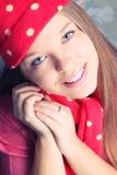 Красивейшая маленькая девочка в одеждах зимы Стоковое фото RF