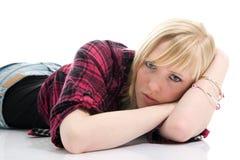 красивейшая мечтая девушка подростковая Стоковое Изображение