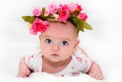 красивейшая милая девушка цветка немногая Стоковая Фотография