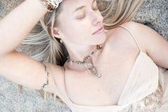 красивейшая милая женщина Стоковые Фотографии RF