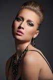 красивейшая модная женщина состава Стоковое Изображение