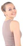 Красивейшая молодая женщина, белая предпосылка Стоковые Фото