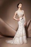 Красивейшая молодая женщина в платье венчания Стоковые Фотографии RF